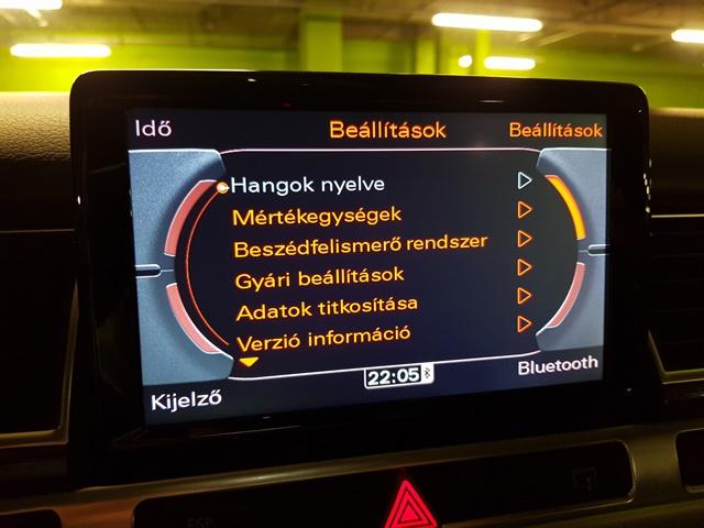 Audi Hnav Magyar nyelv
