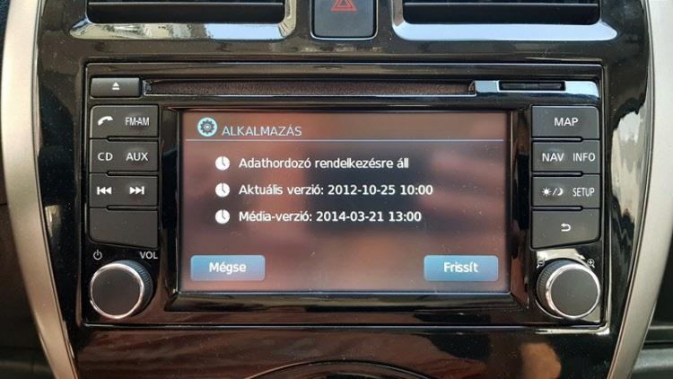 Nissan LCN2 2018-as terkep frissites