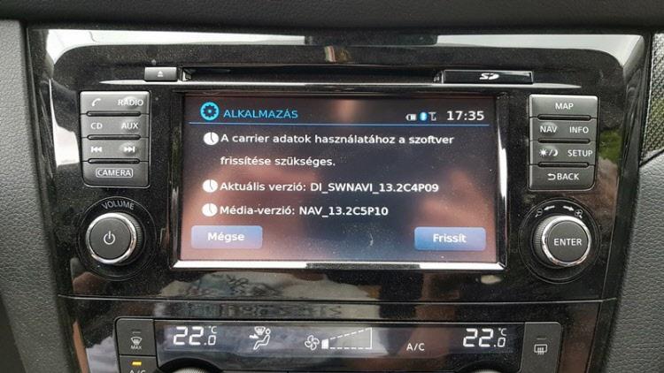 Nissan LCN3 2018-as terkep frissites