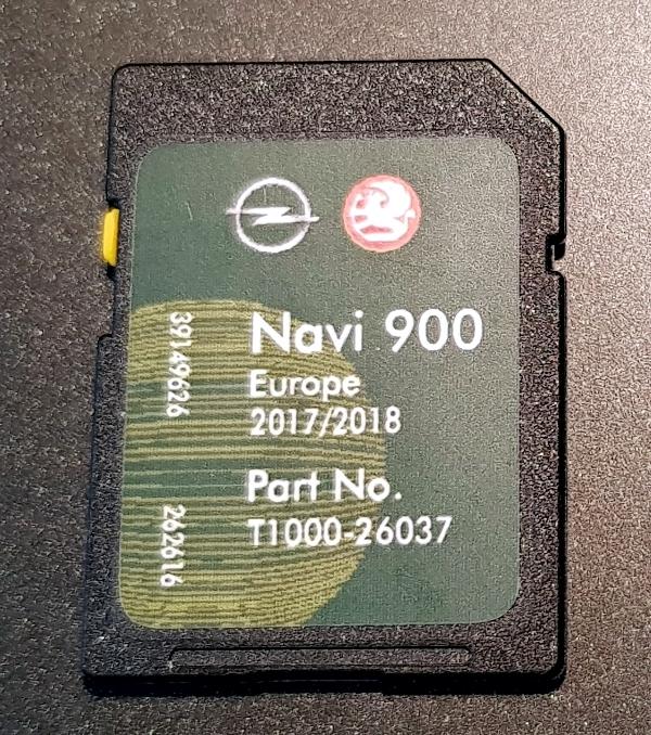 Opel Navi600 Navi900 2017-2018 kartya